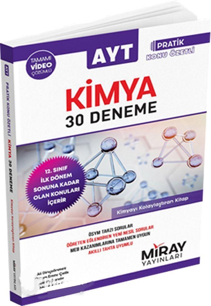 AYT Kimya 1.Dönem Pratik Konu Özetli 30 Den.2020