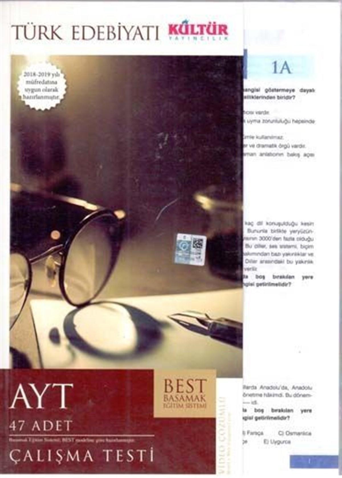 Kültür Yayıncılık AYT Best Türk Edebiyatı Çalışma Testleri