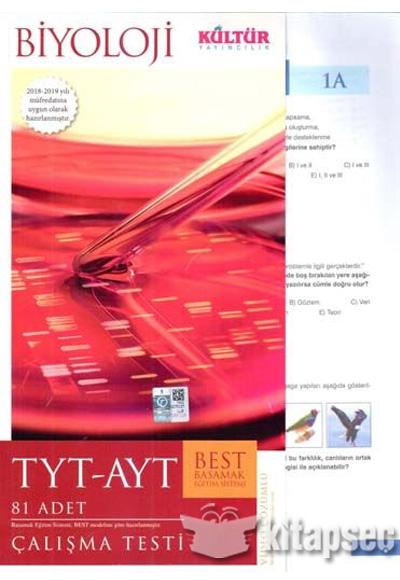Kültür Yayıncılık TYT-AYT Best Biyoloji Çalışma Testleri