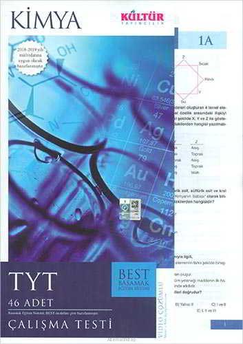 Kültür Yayıncılık TYT Best Kimya Çalışma Testleri
