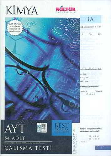 Kültür Yayıncılık AYT Best Kimya Çalışma Testleri