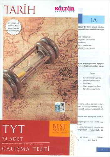 Kültür Yayıncılık TYT Best Tarih Çalışma Testleri