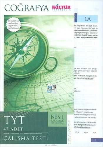 Kültür Yayıncılık TYT Best Coğrafya Çalışma Testleri
