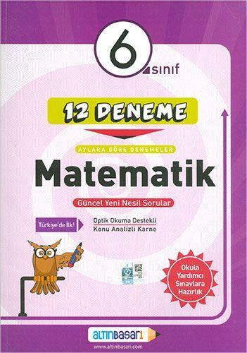 6. Sınıf Matematik 12 Deneme Altınbaşarı Yayınları