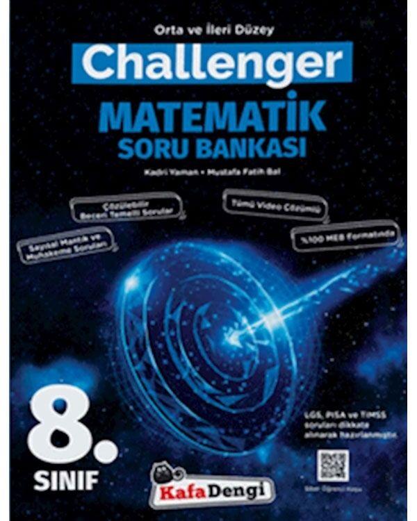 Kafadengi 8.Sınıf Challenger Matematik Soru Bankası (Tümü Video Çözümlü)