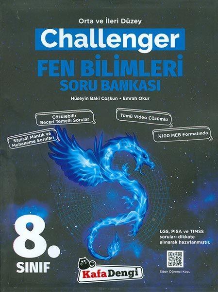 Kafadengi 8.Sınıf Challenger Fen Bilimleri Soru Bankası (Tümü Video Çözümlü)