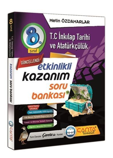 Çanta 8.Sınıf Kazanım Tc.İnkılap Tarihi ve Atatürkçülük Soru.Bankası