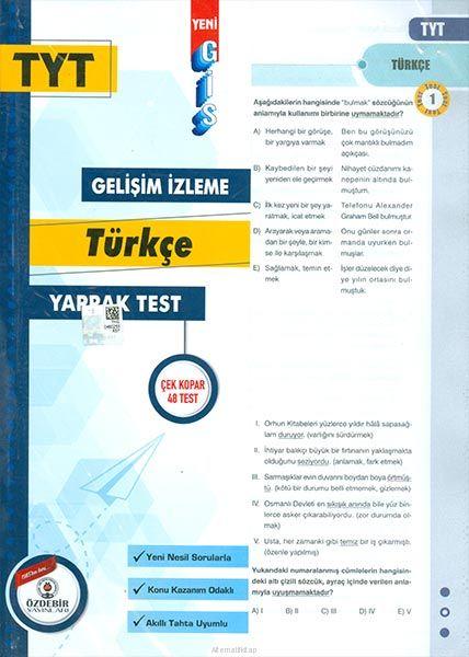 Özdebir TYT Türkçe Gis Yaprak Test