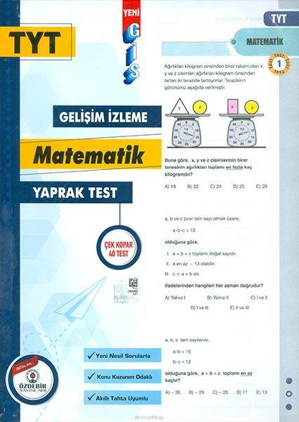 Özdebir TYT Matematik Gis Yaprak Test