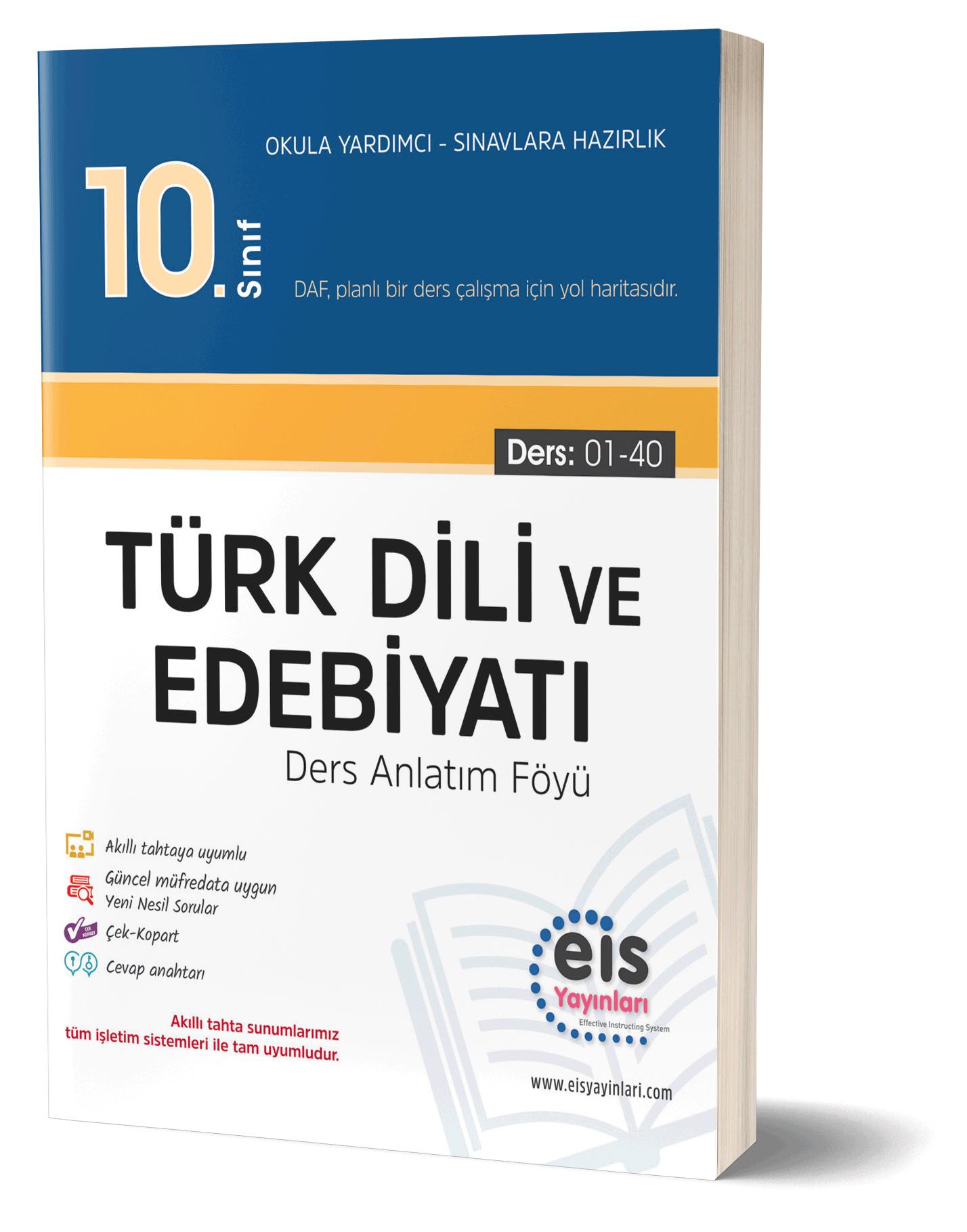 EIS - 10.Sınıf - DAF - Türk Dili Ve Edebiyatı