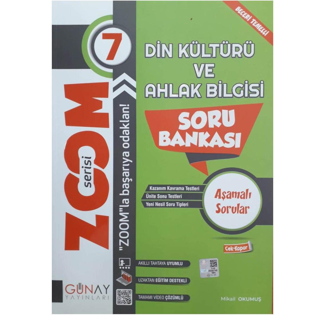 Günay 7.Sınıf Zoom Serisi Din Kültürü Soru Bankası