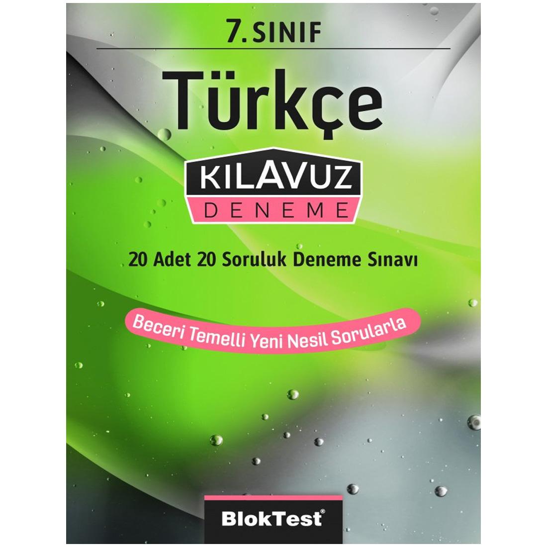 7.Sınıf Bloktest Türkçe Kılavuz Deneme