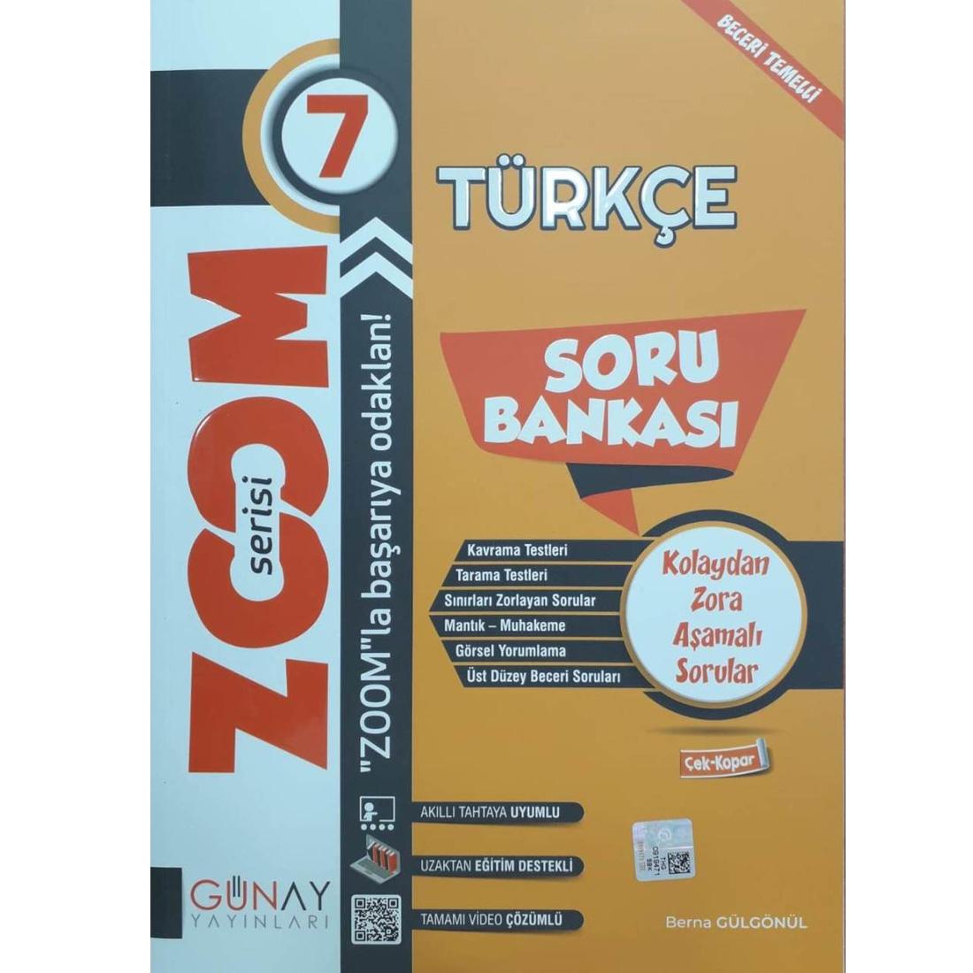 Günay 7.Sınıf Zoom Serisi Türkçe Soru Bankası