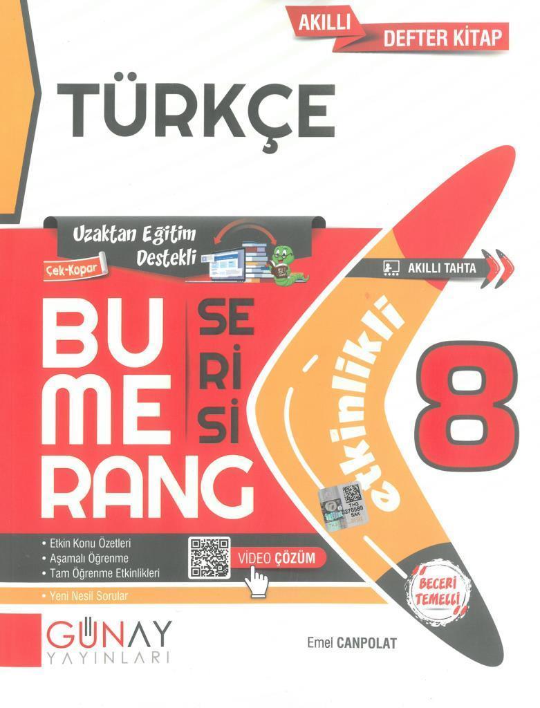 Günay 8.Sınıf Bumerang Etkinlikli Türkçe