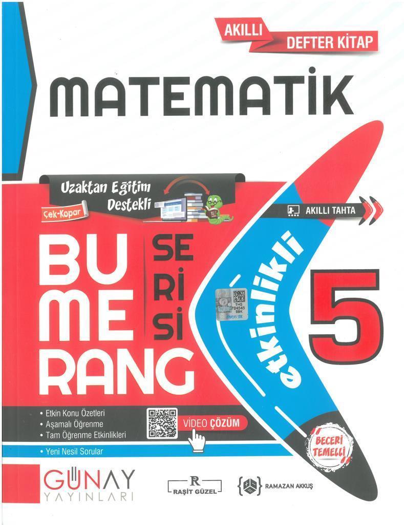 Günay 5.Sınıf Bumerang Etkinlikli Matematik