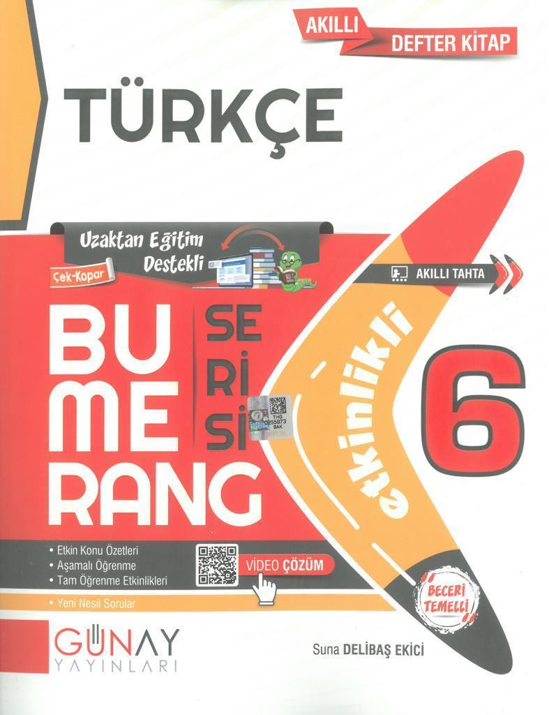 Günay 6.Sınıf Bumerang Etkinlikli Türkçe
