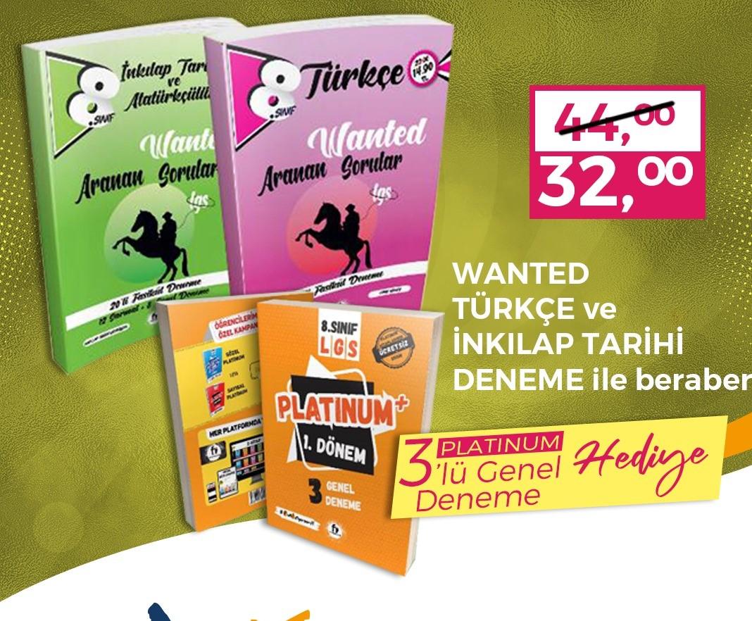 Wanted Türkçe Ve İnkılap Tarihi 3'lü Genel Deneme İle Beraber