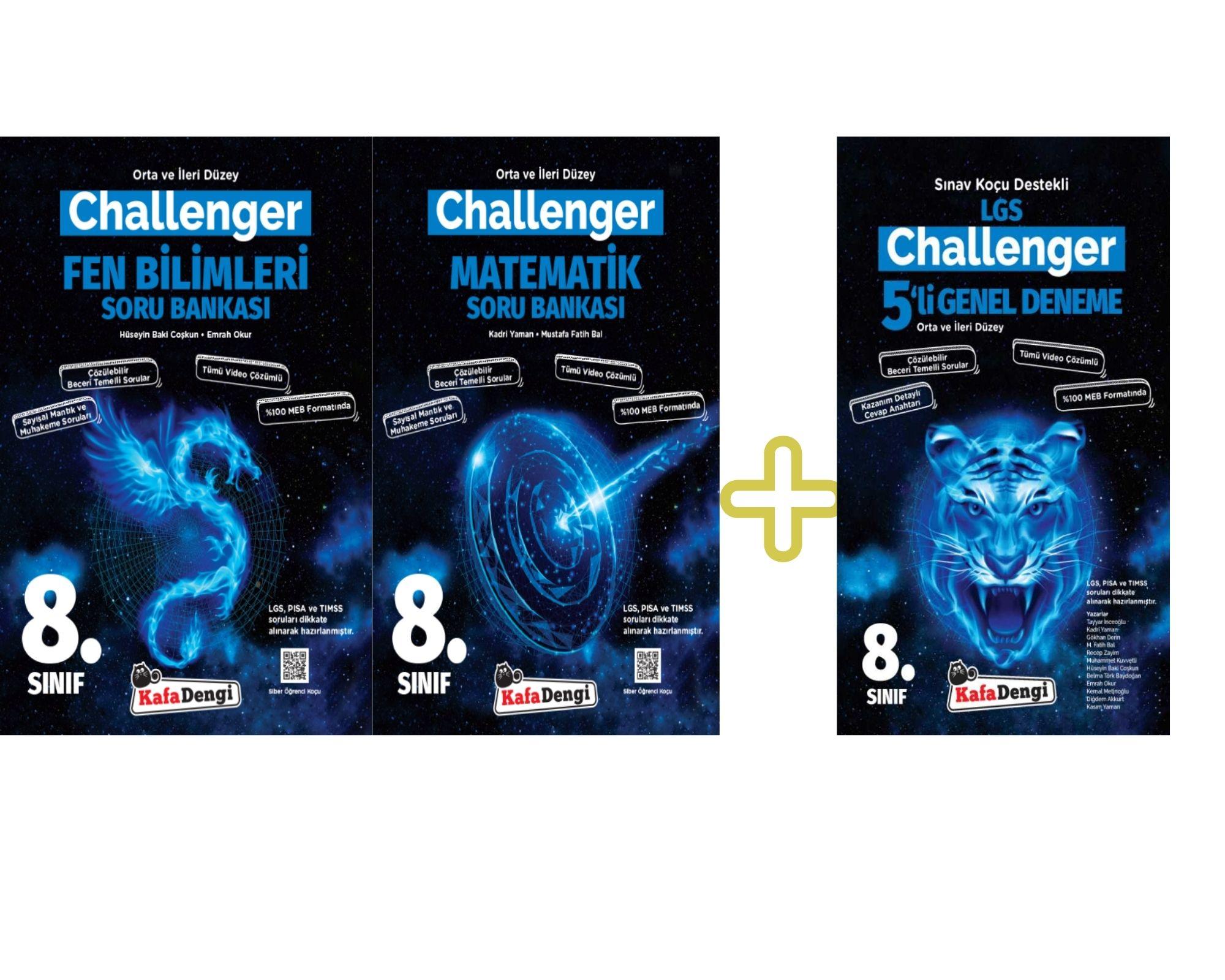LGS KafaDengi 2 Adet Challenger Soru Bankası+1 Adet Challenger Genel Deneme Seti