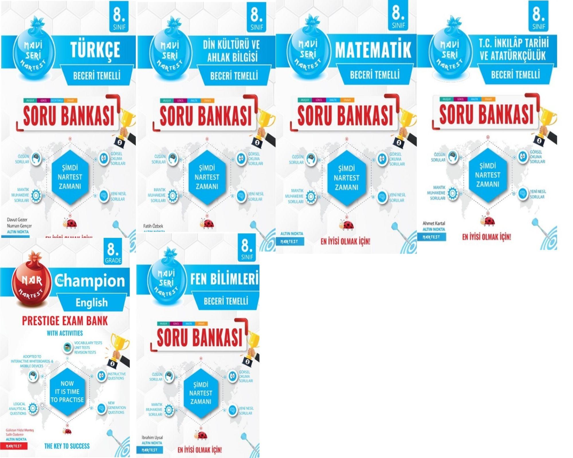 LGS Nartest Yayınevi Beceri Temelli Soru Bankası Seti