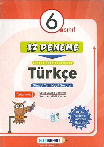 6. Sınıf Türkçe 12 Deneme