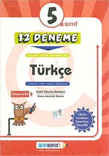 5. Sınıf Türkçe 12 Deneme