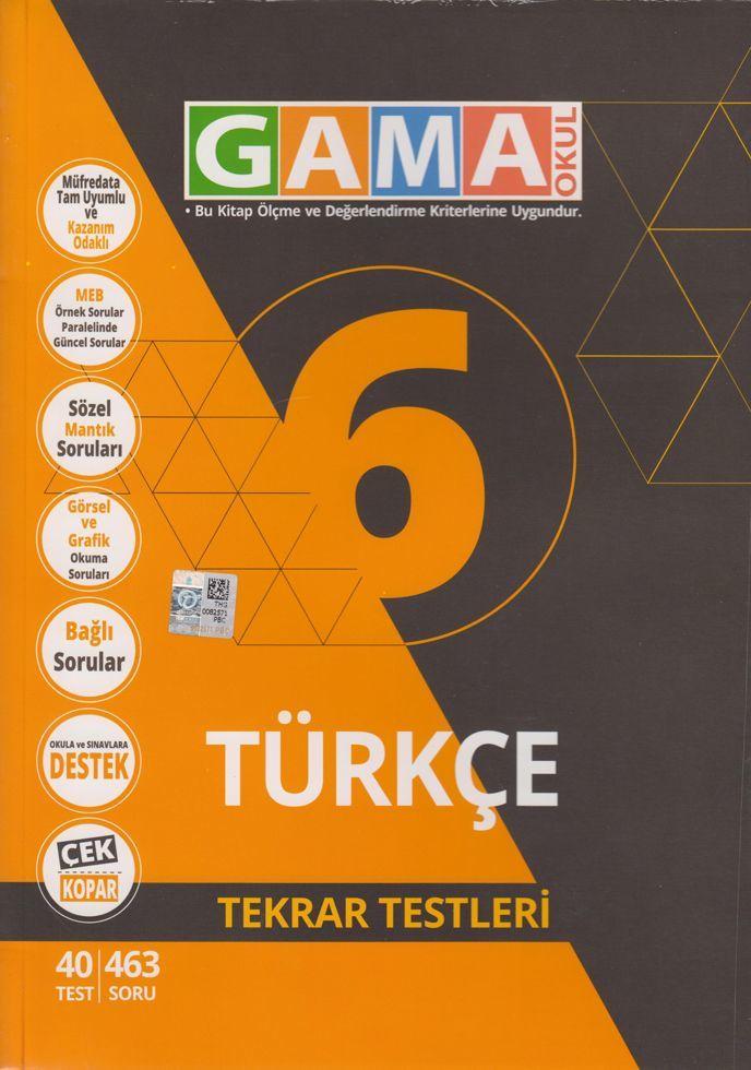 Gama 6.Sınıf Orjin Türkçe Destek Soru Bankası
