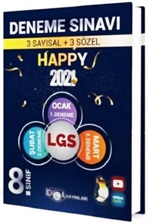 İdol Yayınları 2021 8. Sınıf LGS Happy 3 Deneme