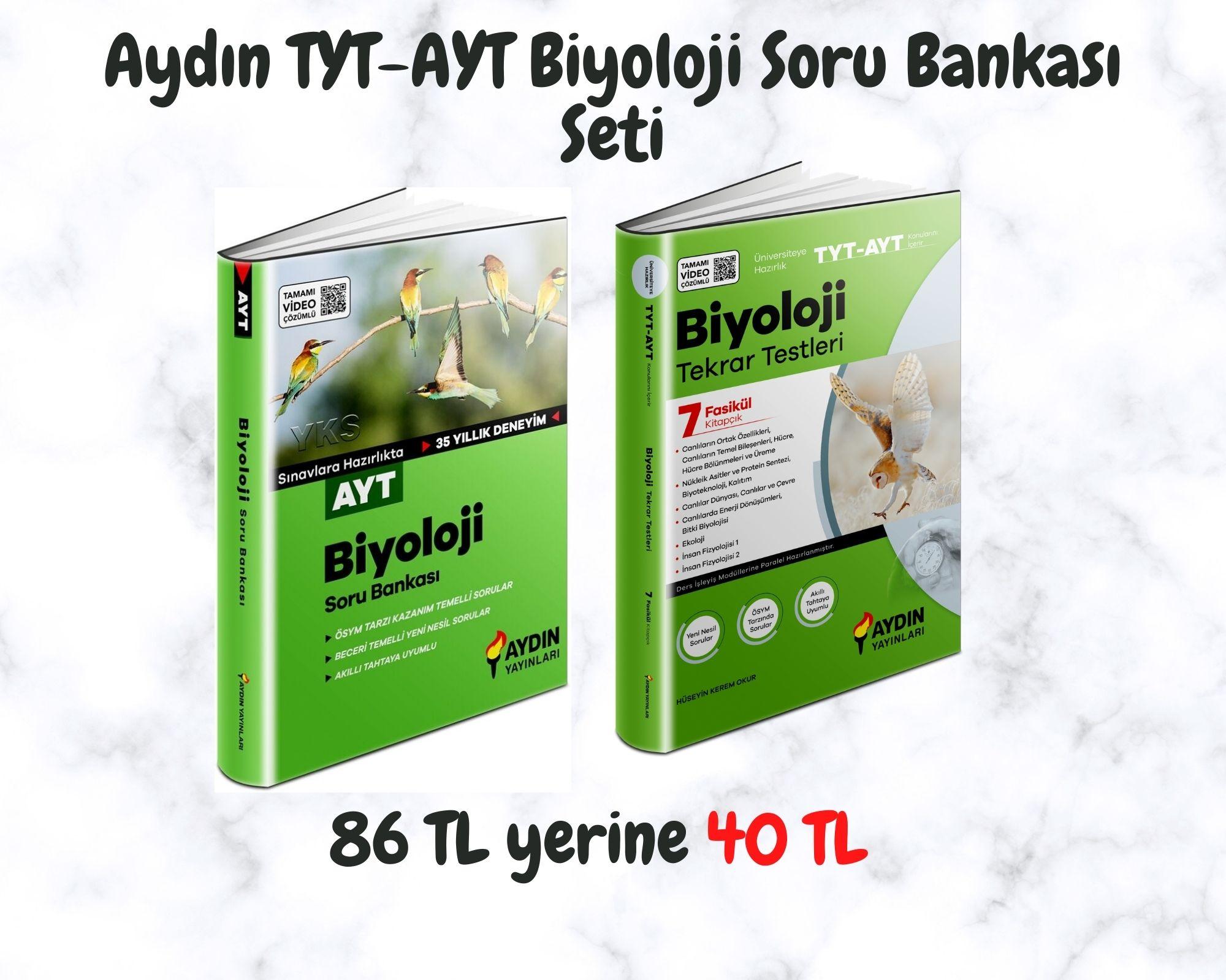 Aydın TYT-AYT Biyoloji Soru Bankası Seti