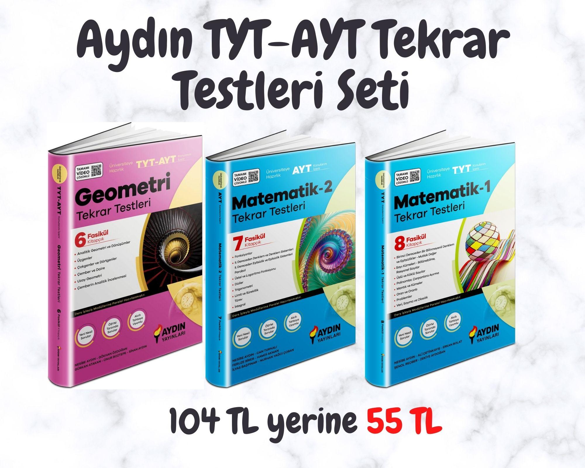 Aydın TYT-AYT Tekrar Testleri Seti