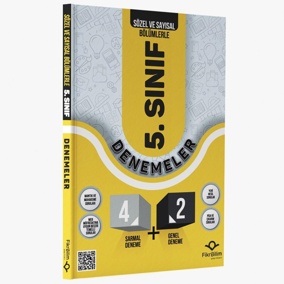 FİKRİBİLİM   5. SINIF SÖZEL VE SAYISAL 4+2 SARMAL GENEL DENEME SINAVI - 2021