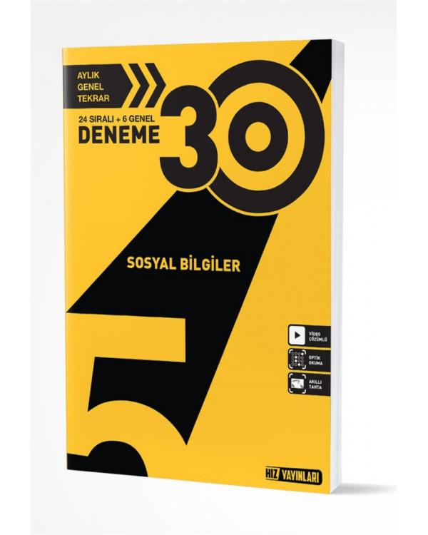 5. SINIF SOSYAL BİLGİLER 30 LU DENEME (9786257750110)