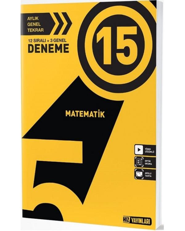 5.Sınıf Matematik 15 Li Deneme Hız Yayınları