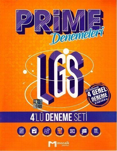 8.Sınıf LGS Prime 4 lü Deneme Seti Mozaik Yayınları