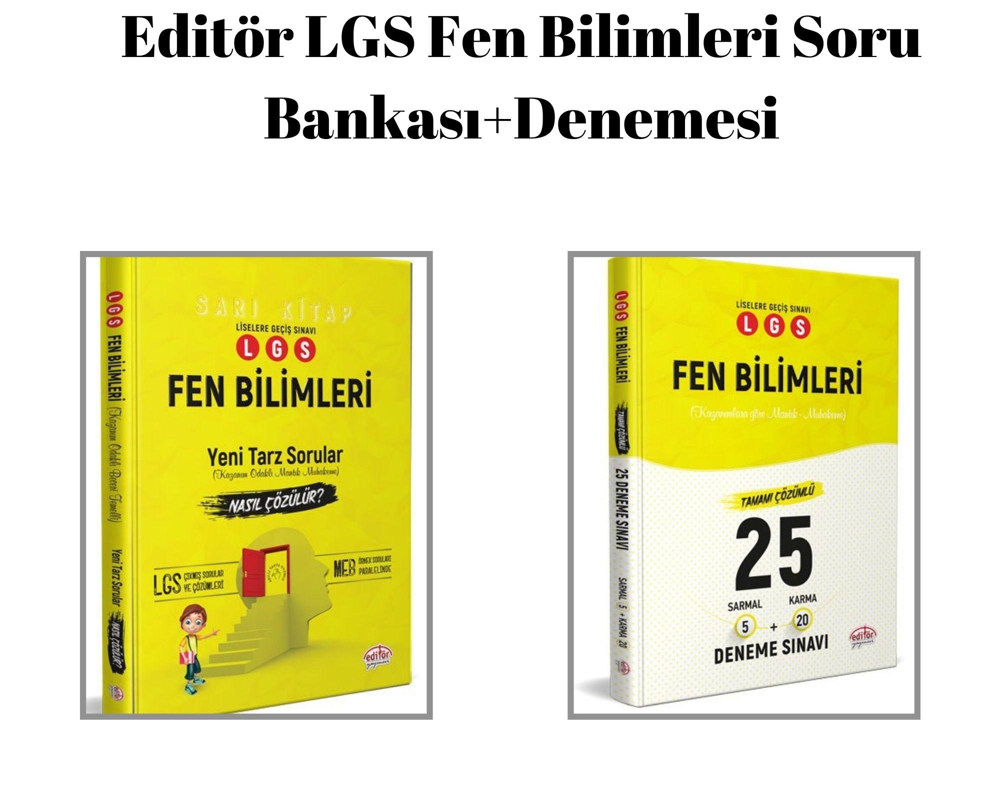 Editör LGS Fen Bilimleri Soru Bankası+Denemesi