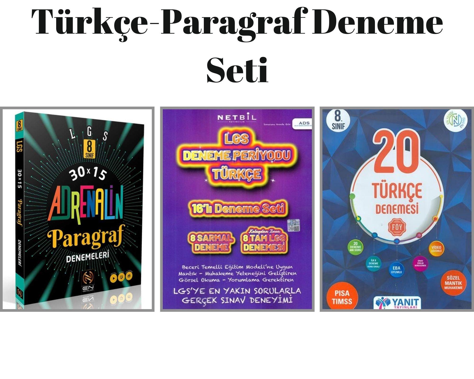 Türkçe-Paragraf Deneme Seti