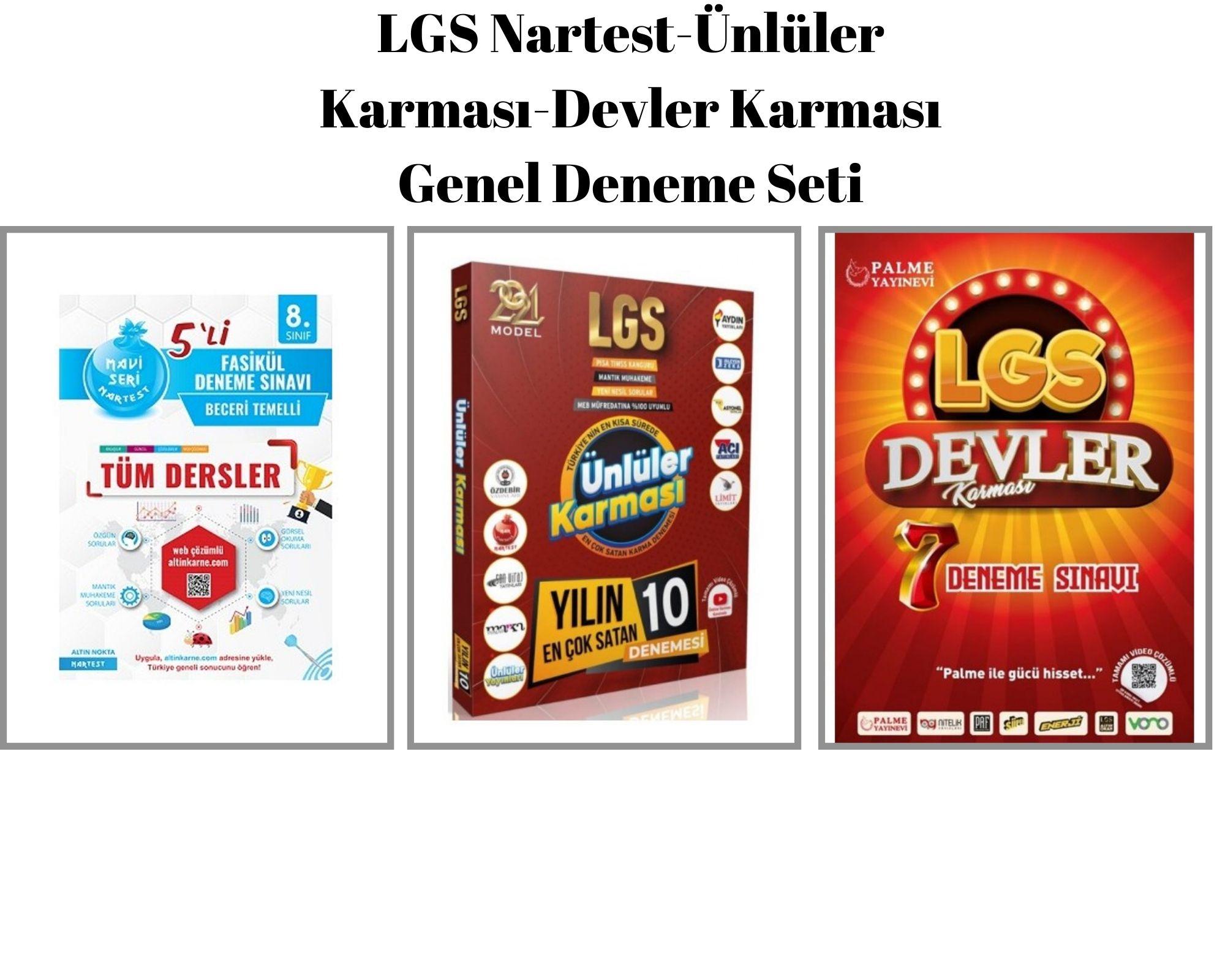 LGS Nartest-Ünlüler Karması-Devler Karması Genel Deneme Seti