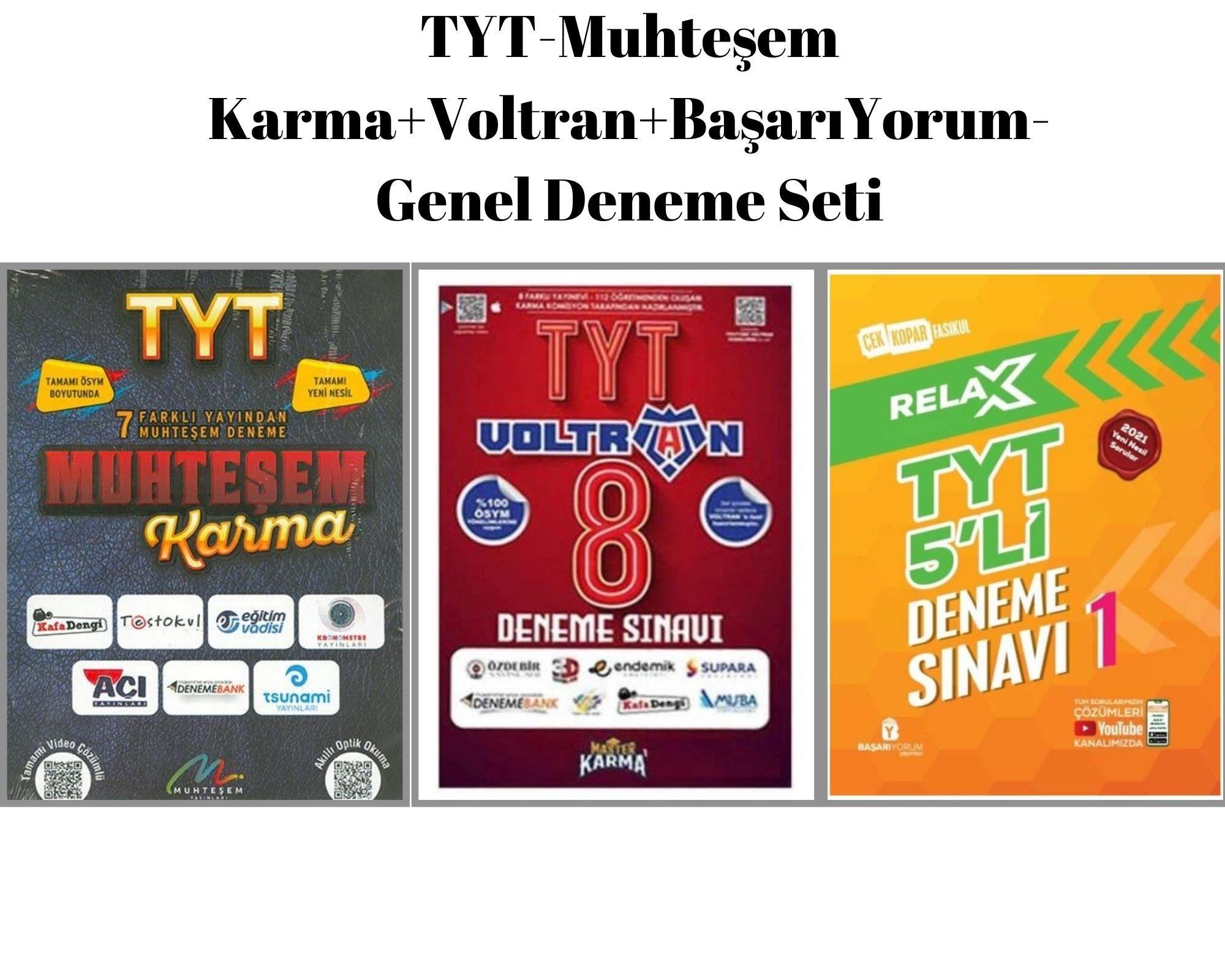 TYT-Muhteşem Karma+Voltran+BaşarıYorum- Genel Deneme Seti