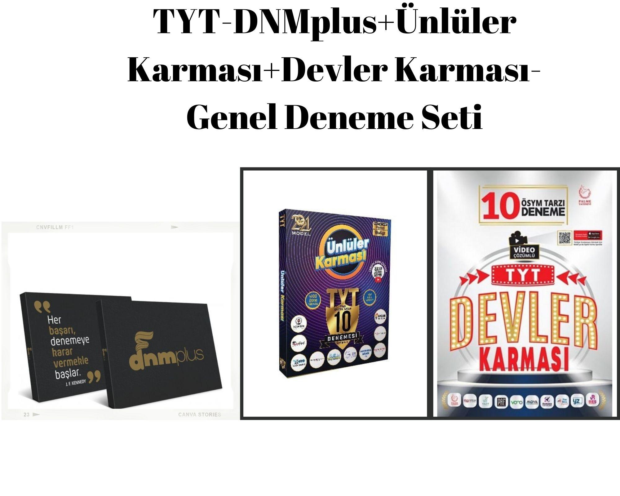 TYT-DNMplus+Ünlüler Karması+Devler Karması-Genel Deneme Seti