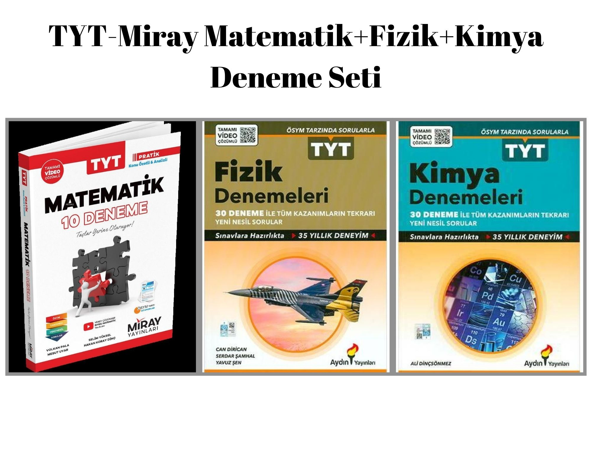 TYT-Miray Matematik+Fizik+Kimya Deneme Seti