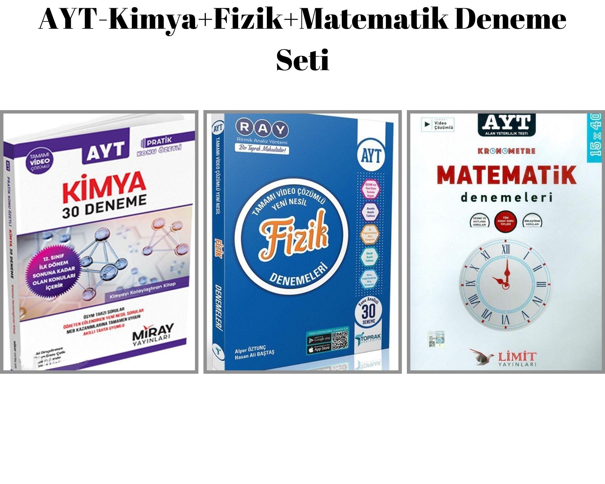 AYT-Kimya+Fizik+Matematik Deneme Seti
