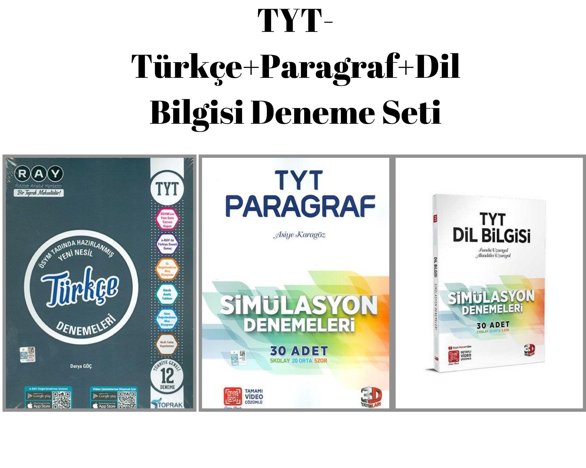 TYT-Türkçe+Paragraf+Dil Bilgisi Deneme Seti