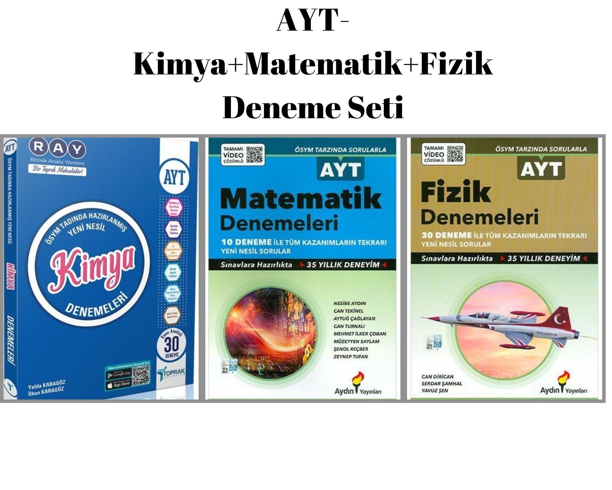 AYT-Kimya+Matematik+Fizik Deneme Seti