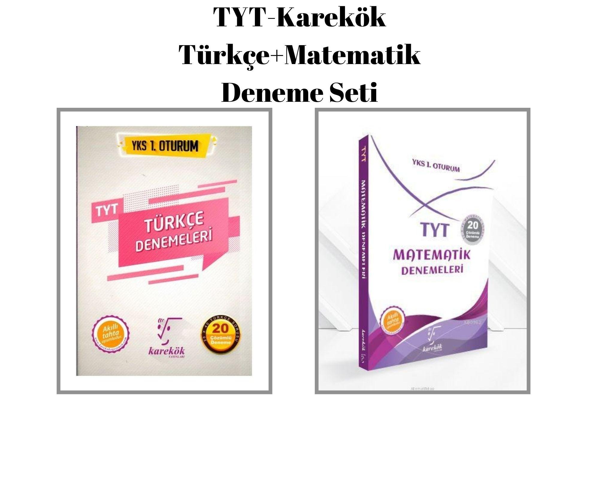 TYT-Karekök Türkçe+Matematik Deneme Seti