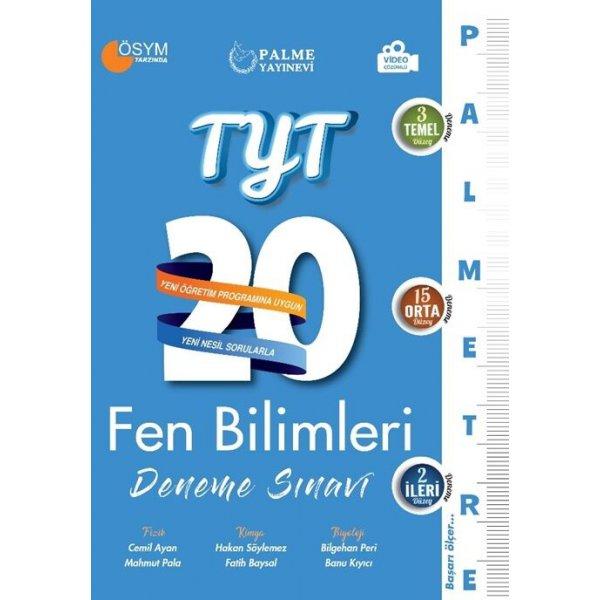 TYT Fen Bilimleri 20 Deneme Sınavı; (Palmetre Serisi)
