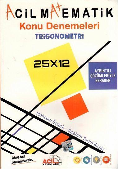 Acil Yayınları - Tyt Matematik Trigonometri Konu Denemesi