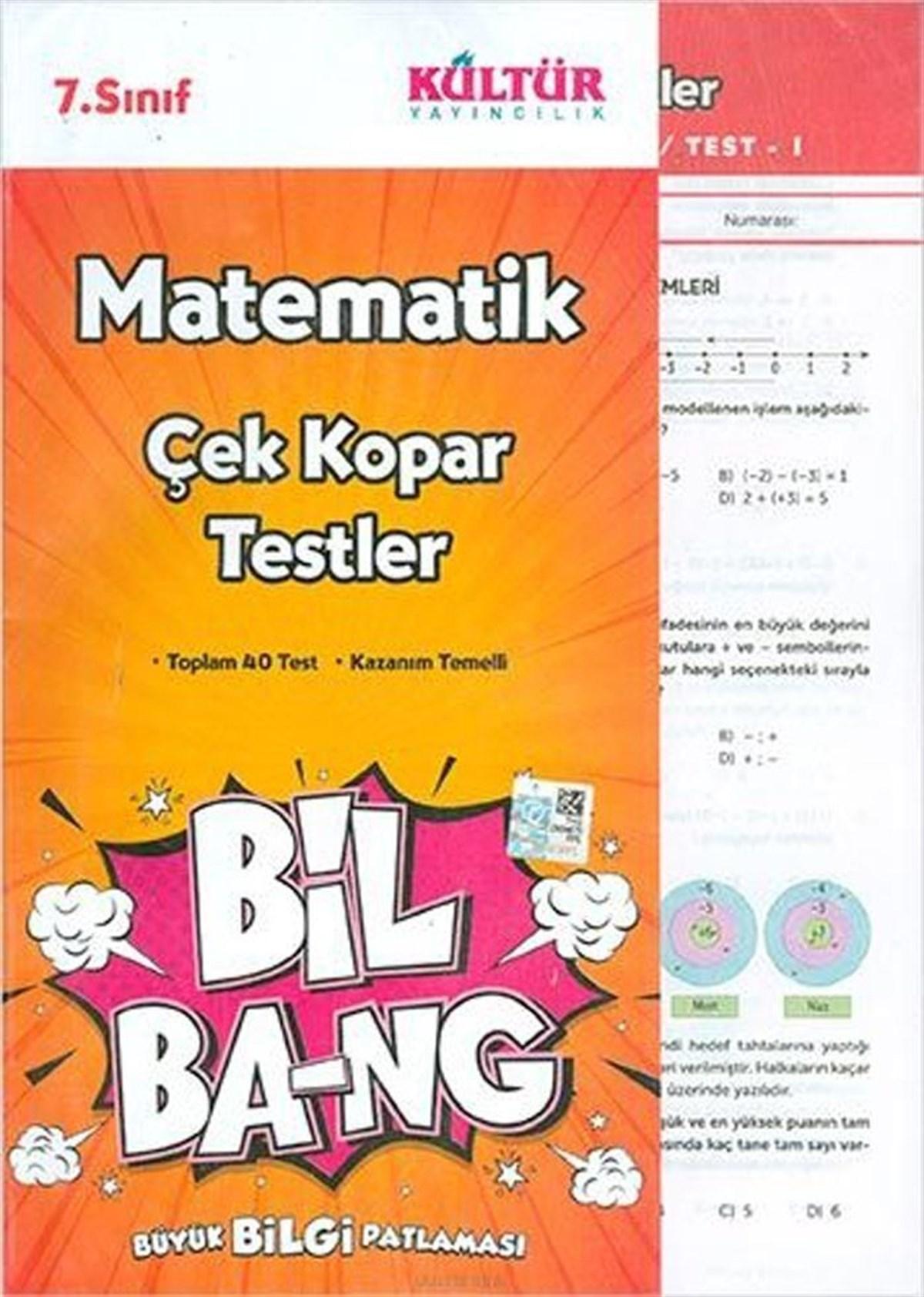Kültür Yayıncılık 7.Sınıf Bil Ba-Ng Matematik Çek Kopar Testleri
