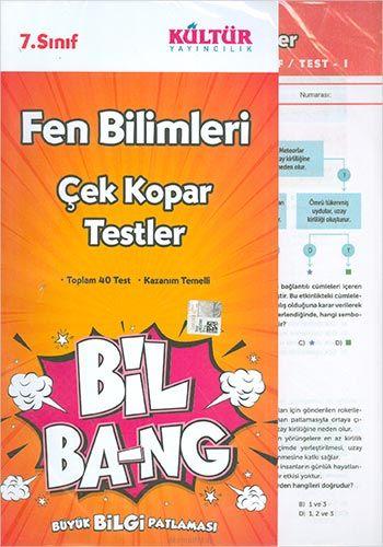 Kültür Yayıncılık 7.Sınıf Bil Ba-Ng Fen Bilimleri Çek Kopar Testleri