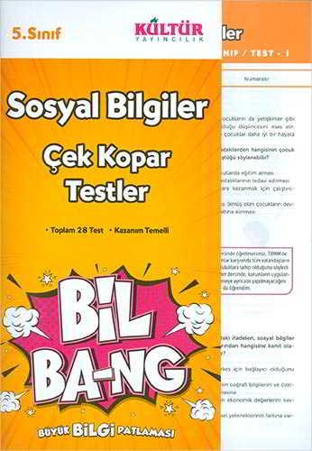 Kültür Yayıncılık 5.Sınıf Bil Ba-Ng Sosyal Bilgiler Çek Kopar Testleri