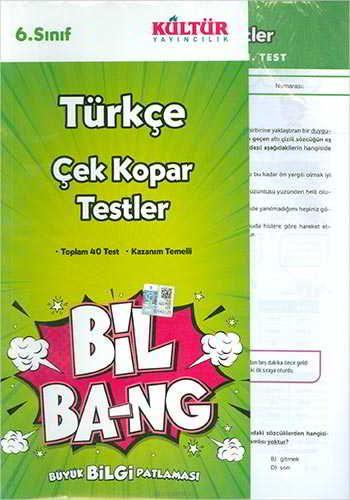 Kültür Yayıncılık 6.Sınıf Bil Ba-Ng Türkçe Çek Kopar Testleri