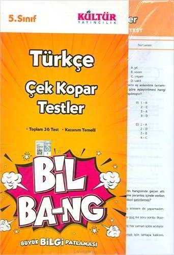 Kültür Yayıncılık 5.Sınıf Bil Ba-Ng Türkçe Çek Kopar Testleri